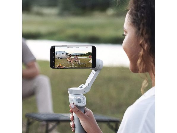 DJI OM 4 3-Axis Smartphone Gimbal Stabilizer with Grip Tripod Ideal for Vlogging, YouTube, Live Video