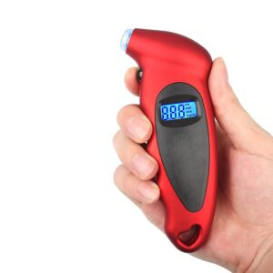 Frixen Digital Tire Pressure Gauge Car Truck Bicycle Instant Read with Backlit LCD and Non-Slip Grip
