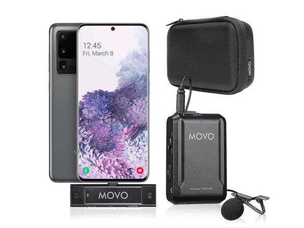 Movo EDGE-UC Wireless Lavalier Microphone System for Android & Samsung Galaxy (USB Type-C)