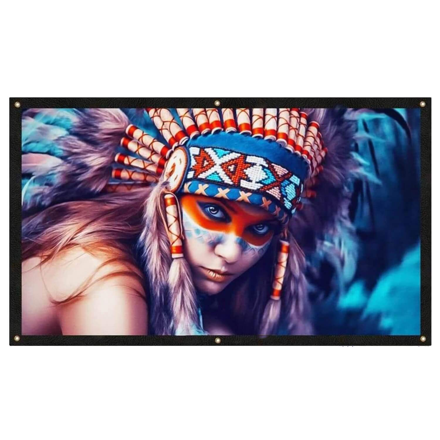 GooDee Indoor Outdoor 4K HD 16: 9 Portable Video Widescreen Movies Projection Screen for Home Theater, 100 Inch