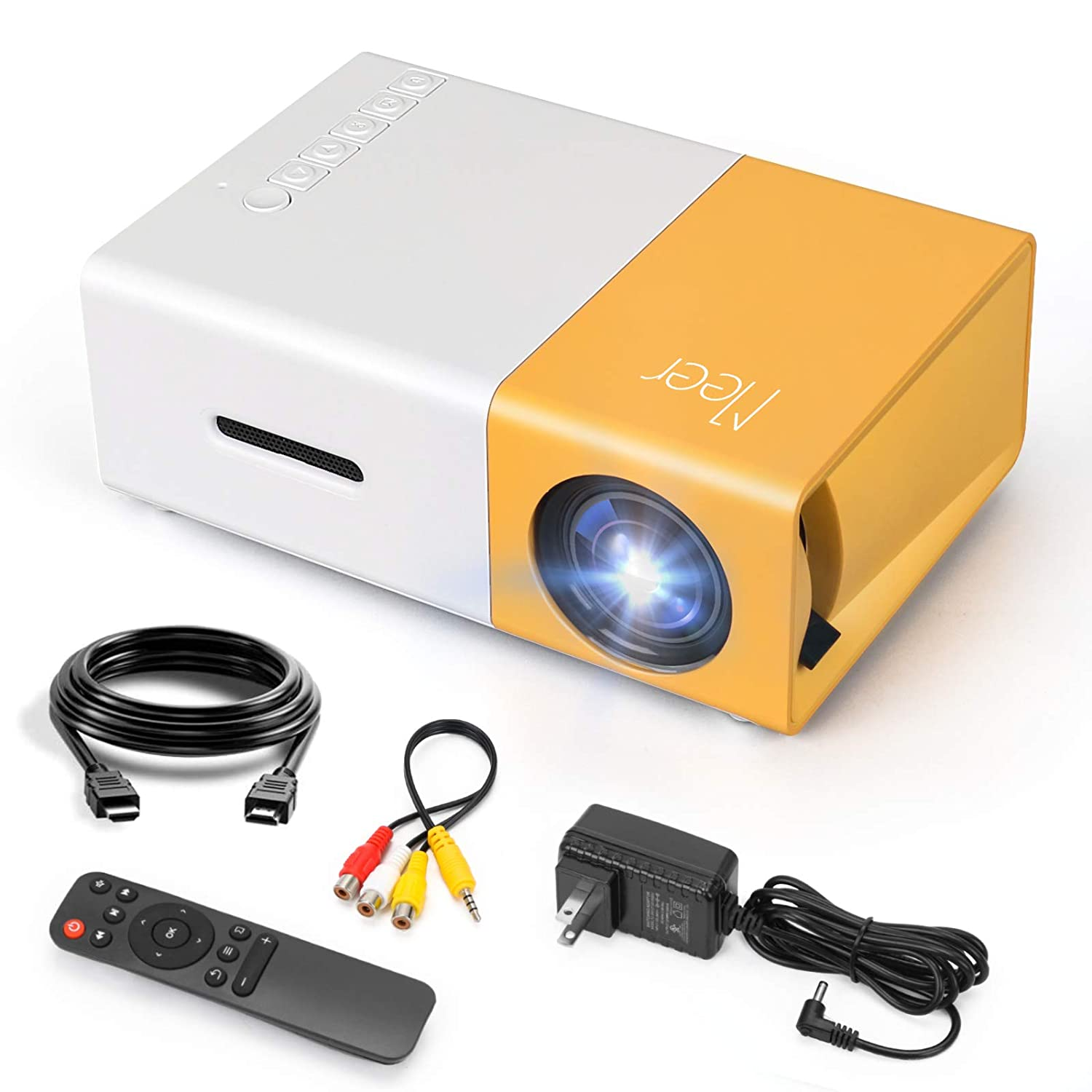 Meer LED YG300 Power Supply Mini Projector LCD TV Support 1080P Projector